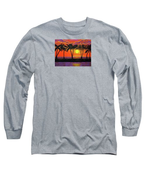 Maui Sunset Palm Trees Long Sleeve T-Shirt
