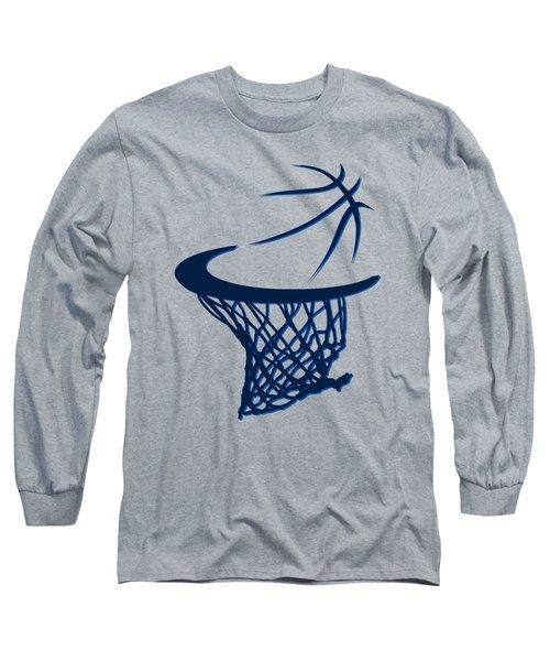 Mavericks Basketball Hoops Long Sleeve T-Shirt by Joe Hamilton