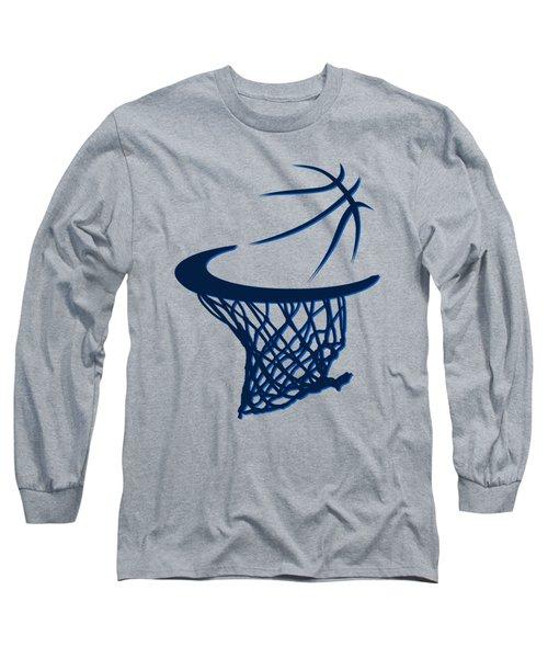 Mavericks Basketball Hoops Long Sleeve T-Shirt