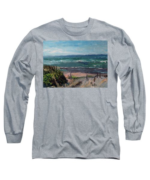 Mayflower Beach Long Sleeve T-Shirt by Michael Helfen
