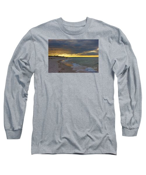 Long Sleeve T-Shirt featuring the photograph Mayflower Beach Walk by Amazing Jules