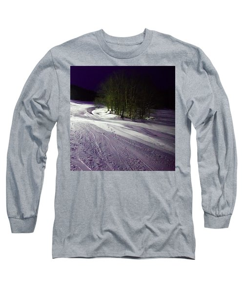 Long Sleeve T-Shirt featuring the photograph Mccauley Evening Snowscape by David Patterson