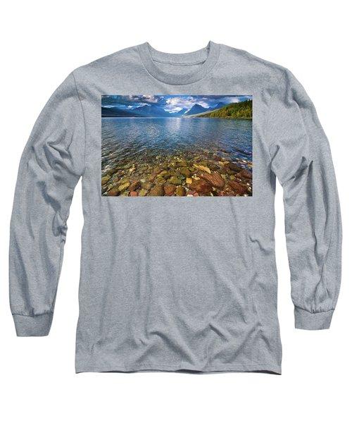 Mcdonald Lake Colors Long Sleeve T-Shirt