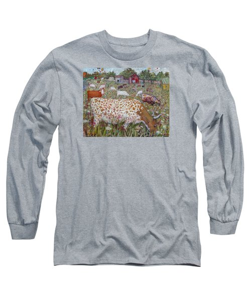 Meadow Farm Cows Long Sleeve T-Shirt