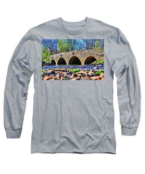 Long Sleeve T-Shirt featuring the photograph Meadows Road Bridge by DJ Florek