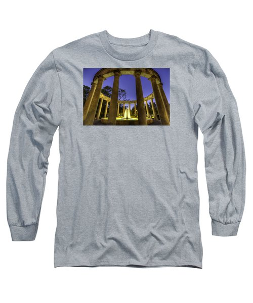 Mecom Rockwell Colonnade And Fountain Long Sleeve T-Shirt
