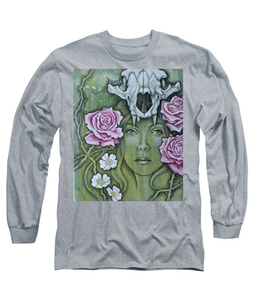 Long Sleeve T-Shirt featuring the mixed media Medicinae by Sheri Howe