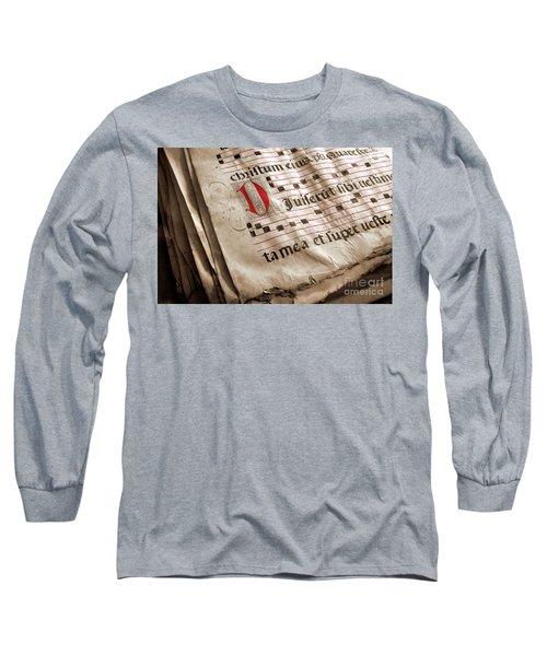 Medieval Choir Book Long Sleeve T-Shirt