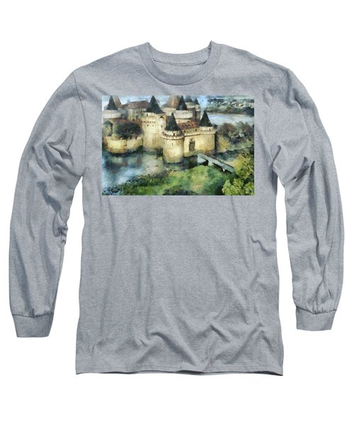 Medieval Knight's Castle Long Sleeve T-Shirt by Sergey Lukashin