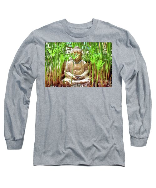 Meditation Long Sleeve T-Shirt by Ray Shrewsberry