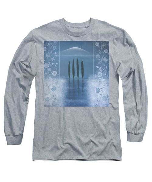 Long Sleeve T-Shirt featuring the painting Meditation by Tone Aanderaa