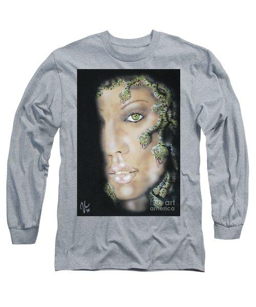 Medusa Long Sleeve T-Shirt by John Sodja
