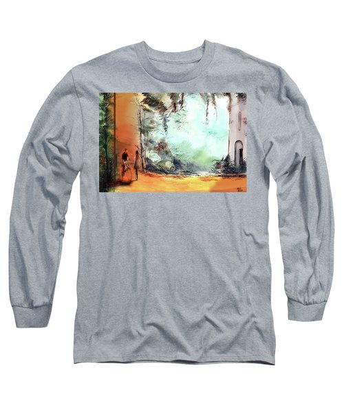 Long Sleeve T-Shirt featuring the painting Meeting On A Date by Anil Nene