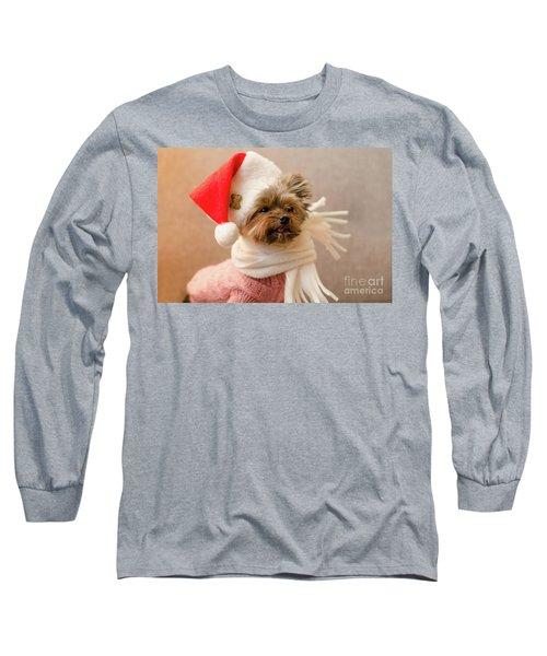 Melanie In Christmas Hat Long Sleeve T-Shirt