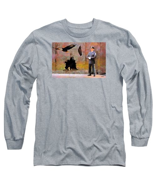 Long Sleeve T-Shirt featuring the painting Memorial by Wayne Pascall