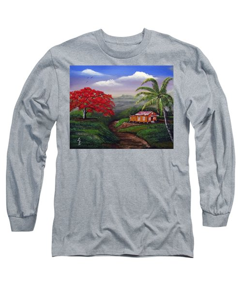 Memories Of My Island Long Sleeve T-Shirt by Luis F Rodriguez