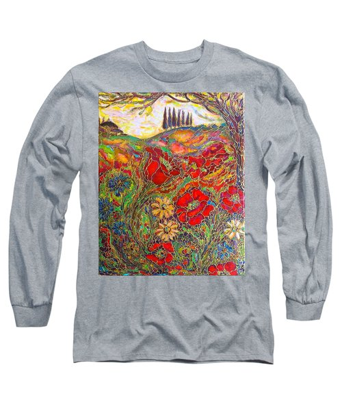 Long Sleeve T-Shirt featuring the painting Memories Of Tuscany by Rae Chichilnitsky