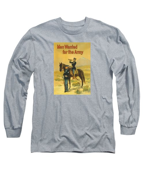 Men Wanted For The Army Long Sleeve T-Shirt by War Is Hell Store