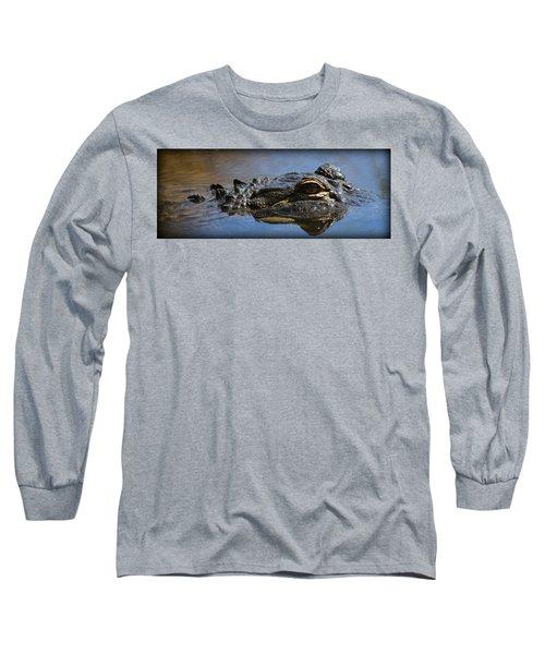 Menacing Alligator Long Sleeve T-Shirt