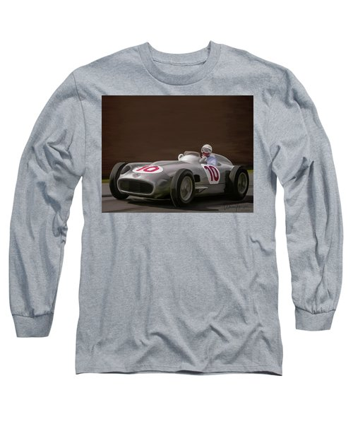 Mercedes-benz W196 Number 10 Long Sleeve T-Shirt by Wally Hampton