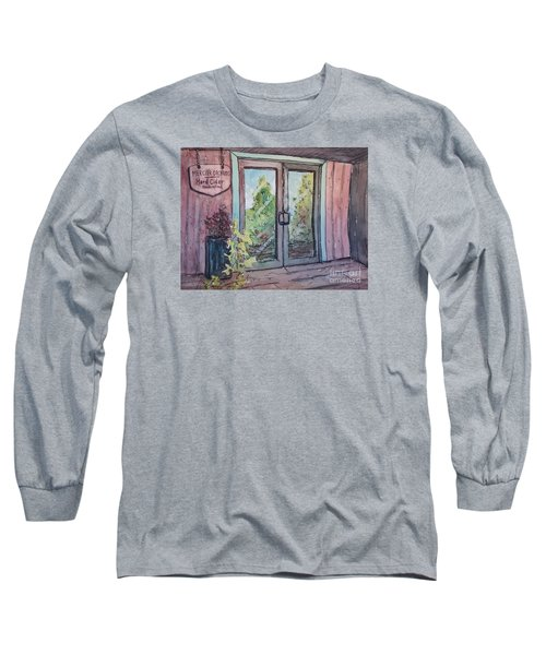 Long Sleeve T-Shirt featuring the painting Mercier Orchards' Cider by Gretchen Allen