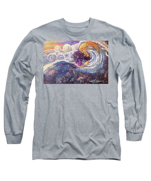 Mermaids In The Surf Long Sleeve T-Shirt