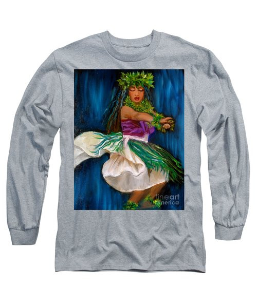 Merrie Monarch Hula Long Sleeve T-Shirt by Jenny Lee