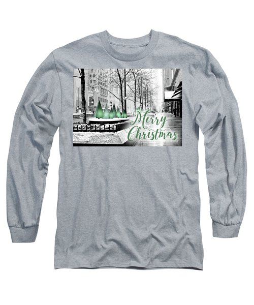 Merry Christmas Chicago Long Sleeve T-Shirt