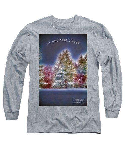 Merry Christmas Long Sleeve T-Shirt by Jim Lepard