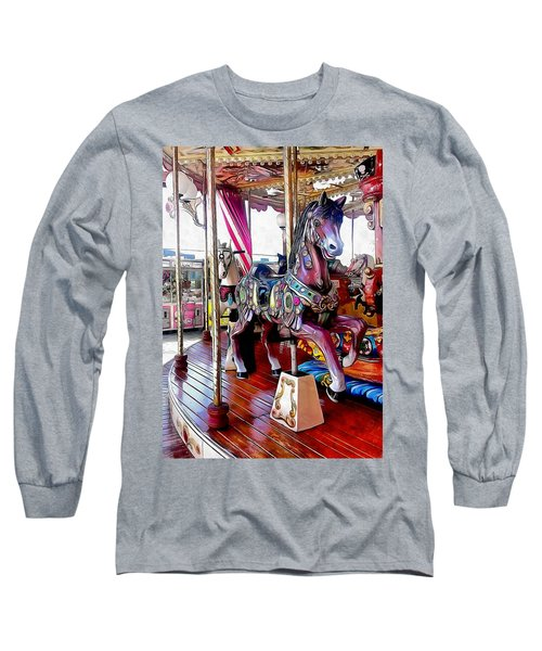 Merry Go Round Horses Long Sleeve T-Shirt