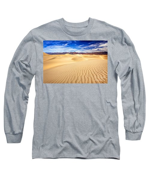 Mesquite Flat Sand Dunes In Death Valley Long Sleeve T-Shirt