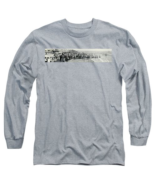 Miami Beach Sunbathers 1921 Long Sleeve T-Shirt by Jon Neidert
