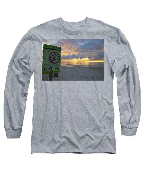 Miami Beach Sunrise Long Sleeve T-Shirt
