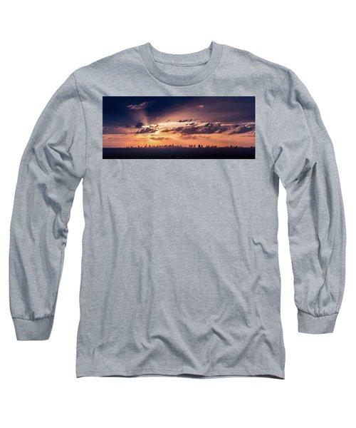 Miami Sunset Pano Long Sleeve T-Shirt