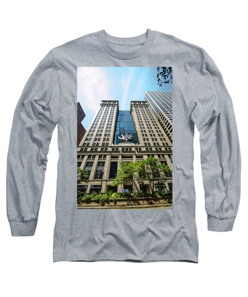 Long Sleeve T-Shirt featuring the photograph Michael A Bilandic Building Chicago by Deborah Smolinske