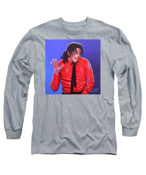 Michael Jackson 2 Long Sleeve T-Shirt by Paul Meijering