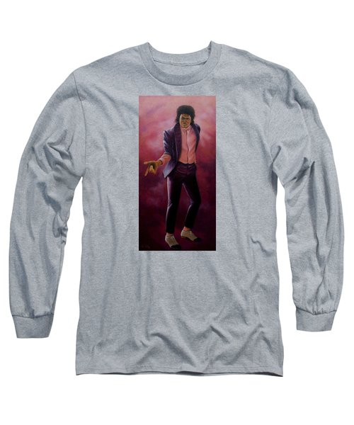 Michael Jackson-billy Jean Long Sleeve T-Shirt by Loxi Sibley