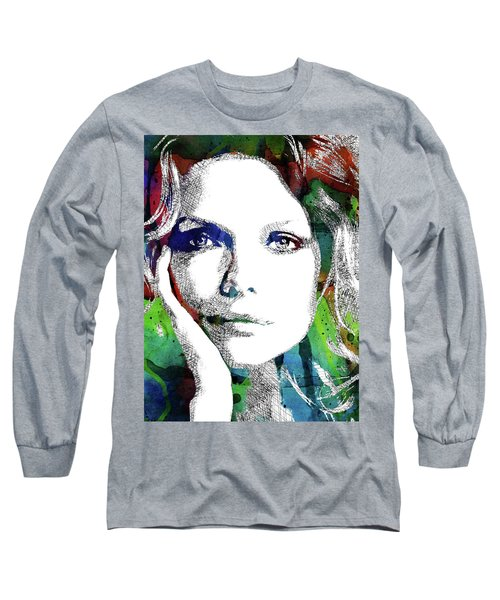 Michelle Pfeiffer Long Sleeve T-Shirt by Mihaela Pater