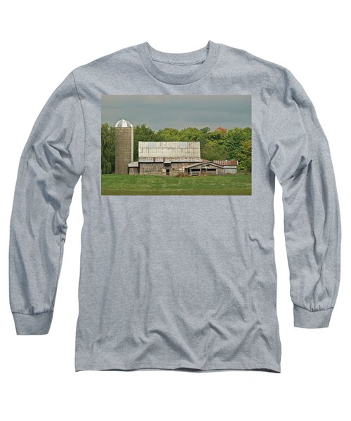 Michigan Dairy Barn Long Sleeve T-Shirt by Michael Peychich