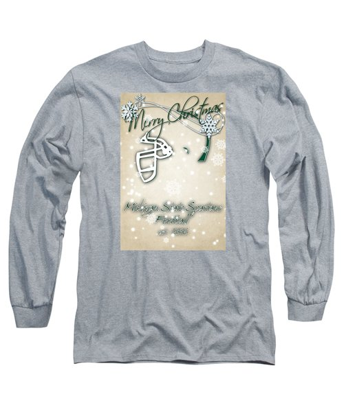 Michigan State Spartans Christmas Card 2 Long Sleeve T-Shirt