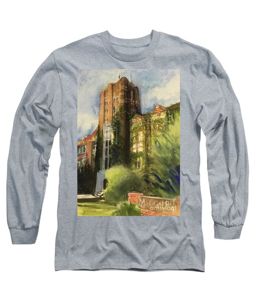 Michigan Union Long Sleeve T-Shirt by Yoshiko Mishina