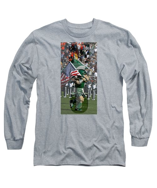 Michiganstate Sparty Long Sleeve T-Shirt by John McGraw