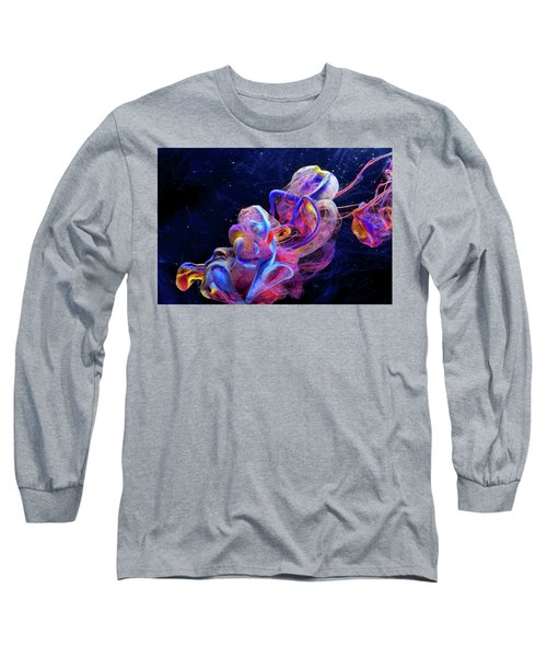 Micro Space - Colorful Abstract Photography Long Sleeve T-Shirt by Modern Art Prints
