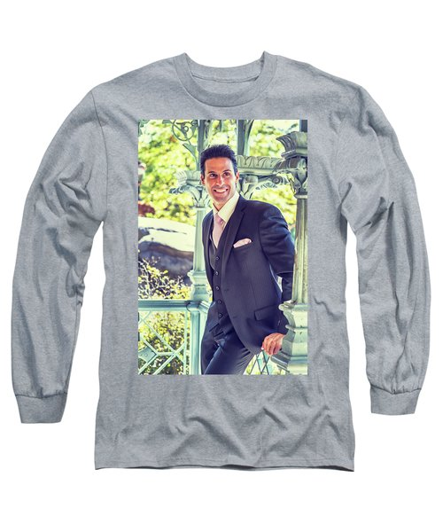 Middle Age Man Waiting For You Long Sleeve T-Shirt