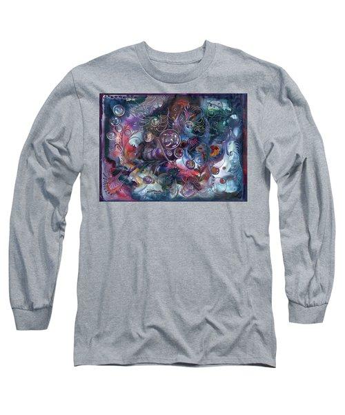 Midnight Dancing Bubbles Long Sleeve T-Shirt