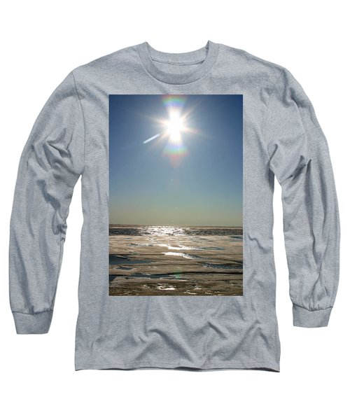 Midnight Sun Over The Arctic Long Sleeve T-Shirt
