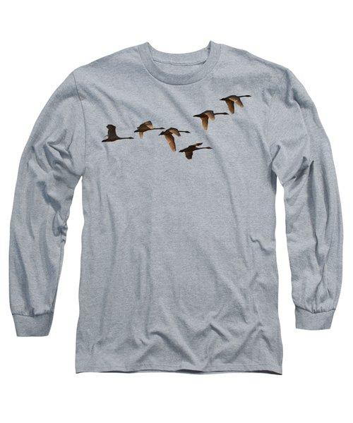 Migrating Swans Long Sleeve T-Shirt