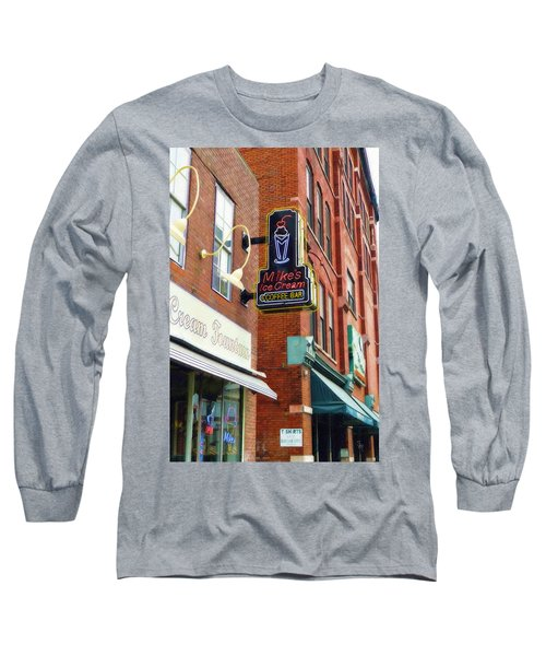 Mike's Ice Cream And Coffee Bar Long Sleeve T-Shirt by Sandy MacGowan