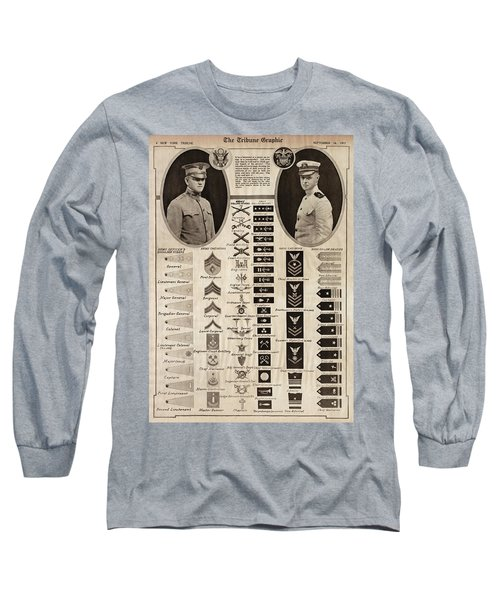 Long Sleeve T-Shirt featuring the photograph Military Rank Identification 1917 by Daniel Hagerman