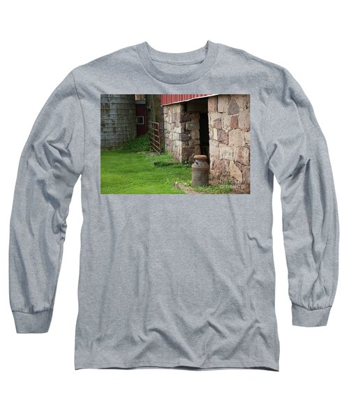 Milk Can At Stone Barn Long Sleeve T-Shirt